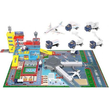 Flygplats leksak stor kit för barn