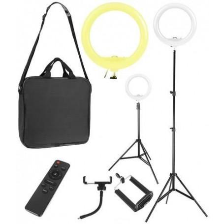 Fotograferings Ringlampa med stativ och fjärrkontroll 30W