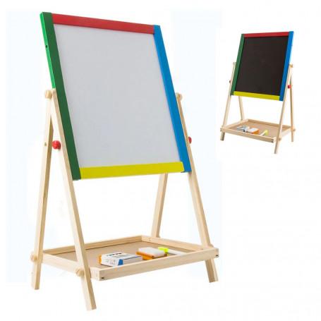 2-in-1 Ritstativ - Whiteboard med Griffeltavla